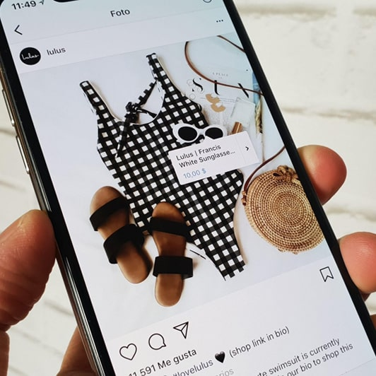 Instagram Shopping es un ejemplo de ventas a través de las redes sociales